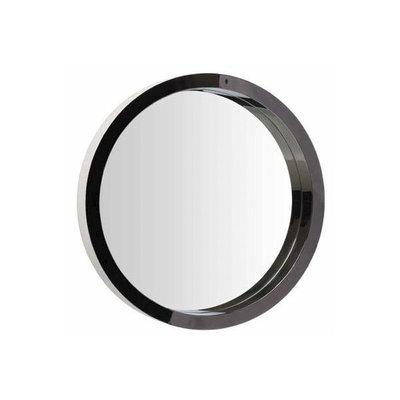 Nuevo Living Julia Round Wall Mirror Black