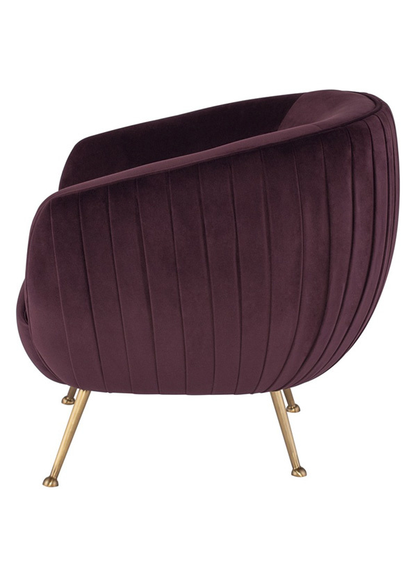 Nuevo Living SOFIA OCCASIONAL CHAIR MULBERRY GOLD
