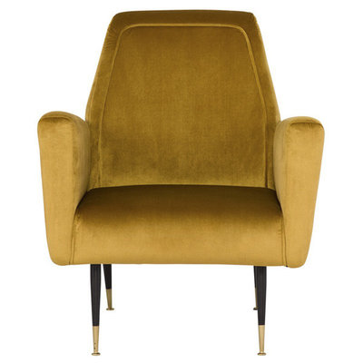 Nuevo Living Victory Occasional Chair in Mustard Velvet