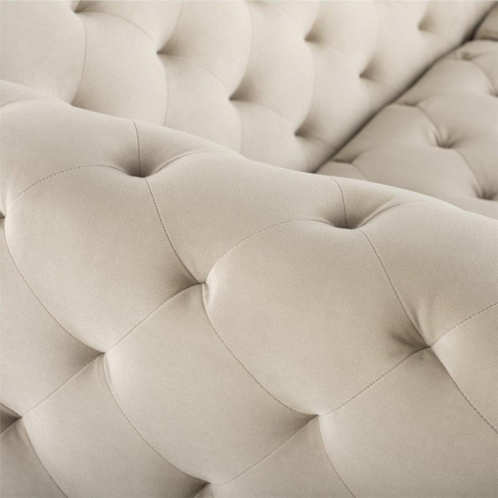 Nuevo Living Tufty Sofa Nude Black Legs
