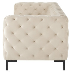 Nuevo Living Tufty Sofa Nude Black Legs