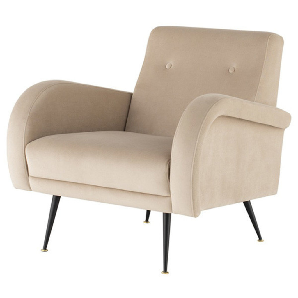 Nuevo Living Hugo Occasional Chair Nude Velvet