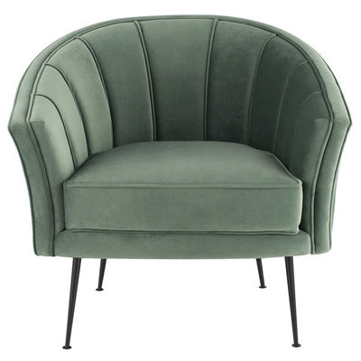 Nuevo Living Aria Chair Moss Velvet with Black Legs