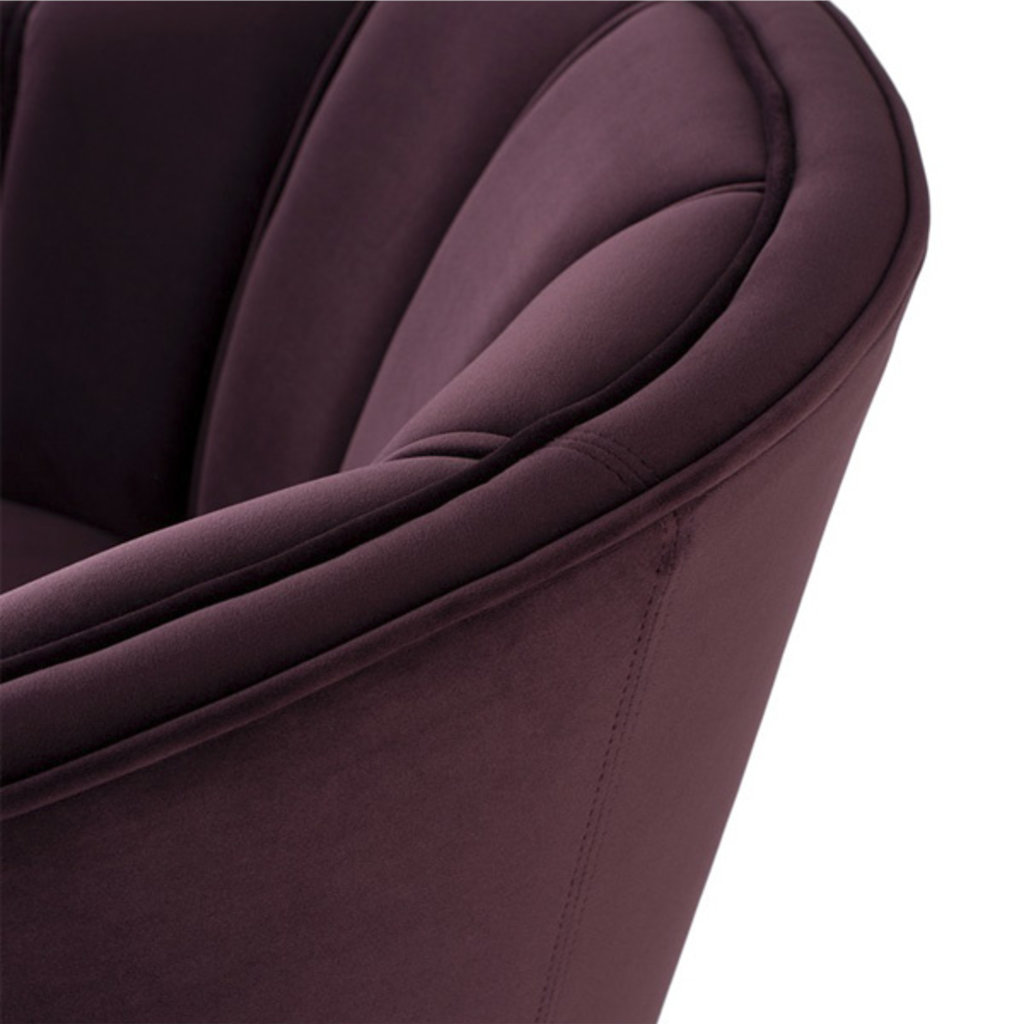 Nuevo Living Aria Occasional Chair Mulberry Velvet
