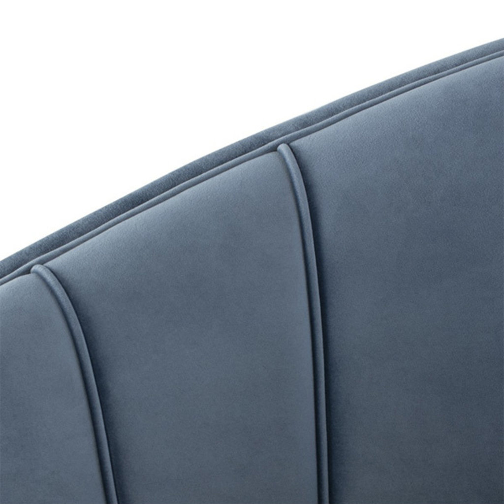 Nuevo Living Aria Occasional Chair Dusty Blue Velvet