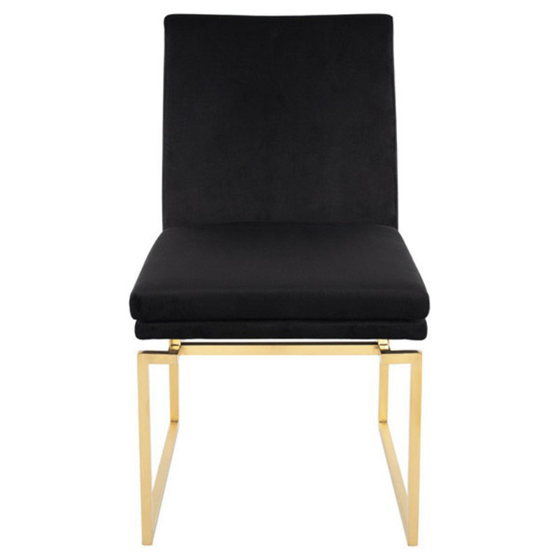 Nuevo Living Savine Dining Chair Black / Gold