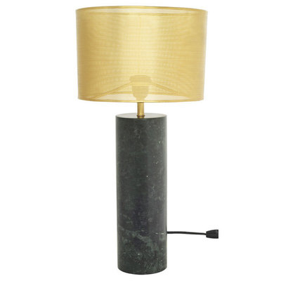 Nuevo Living Cyrine Table Lamp Brass Shade Green Marble Base