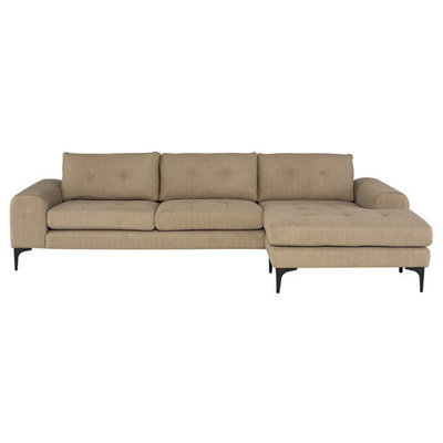 Nuevo Living Colyn Sectional Burlap Fabric