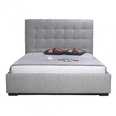Moe's Home Collection Belle Queen Storage Bed Light Gray