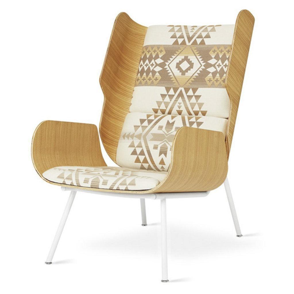 Gus Modern Elk Chair Pendleton Can Desert White Powder Coat Ash Natural