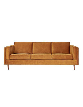 Gus Modern Adelaide Sofa Velvet Rust