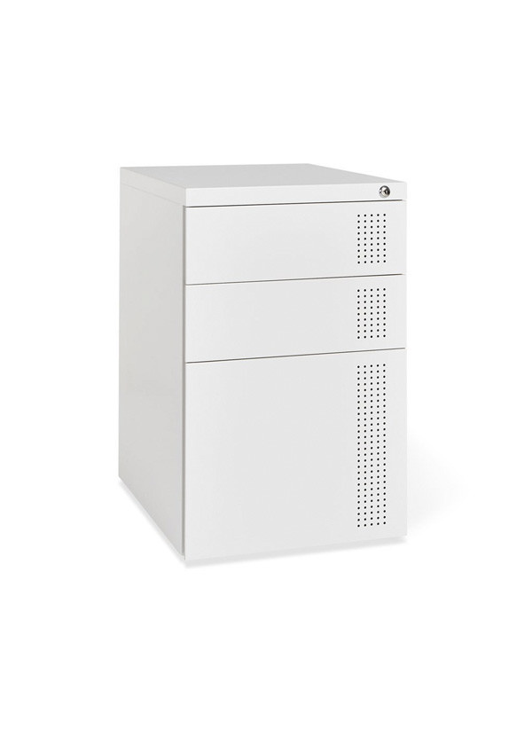 Gus Modern Perf File Cabinet White