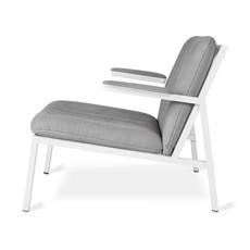 Gus Modern Dunlop Chair White Powder Coat Vintage Alloy