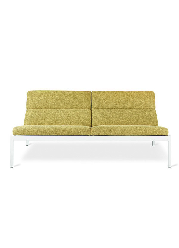 Gus Modern Fogo Loft Sofa White Powder Coat Bayview Dandelion