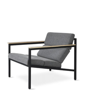 Gus Modern Halifax Chair Black Powder Coat Andorra Pewter