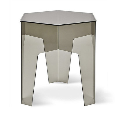 Gus Modern Hive End Table Smoke Acrylic