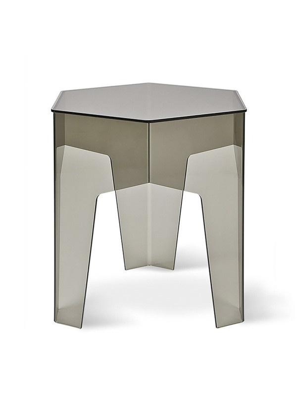 Gus Modern Hive End Table Smoke Acrylic