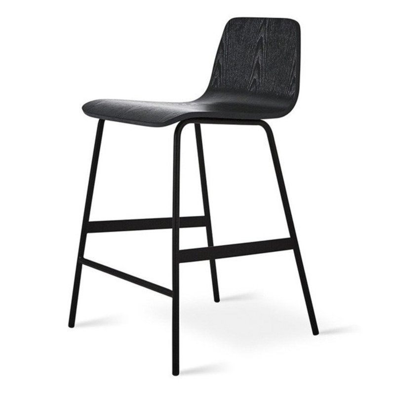 Gus Modern Lecture Counter Stool Ash Black