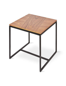 Gus Modern Tobias End Table Walnut Black