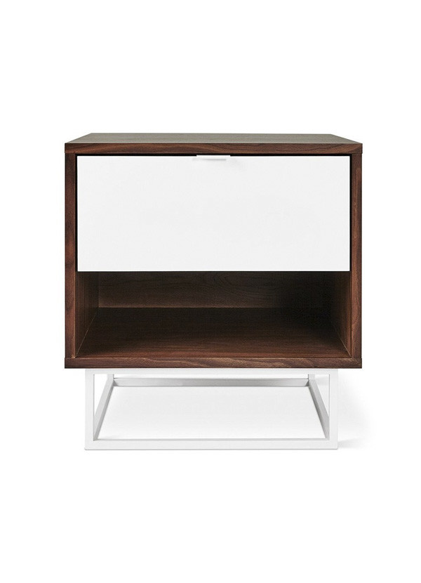 Gus Modern Emerson End Table Walnut White