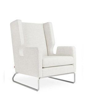 Gus Modern Danforth Chair Huron Ivory