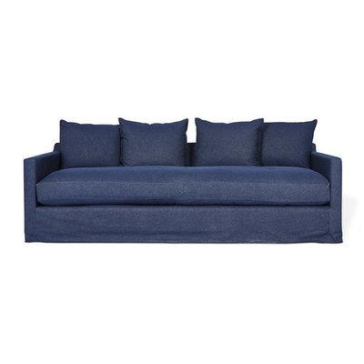 Gus Modern Carmel Sofa Washed Denim Indigo