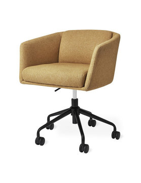 Gus Modern Radius Chair Black Powder Coat Stockholm Camel