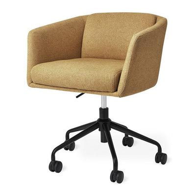 Gus Modern Radius Chair Black Powder Coat Stockholm Camel
