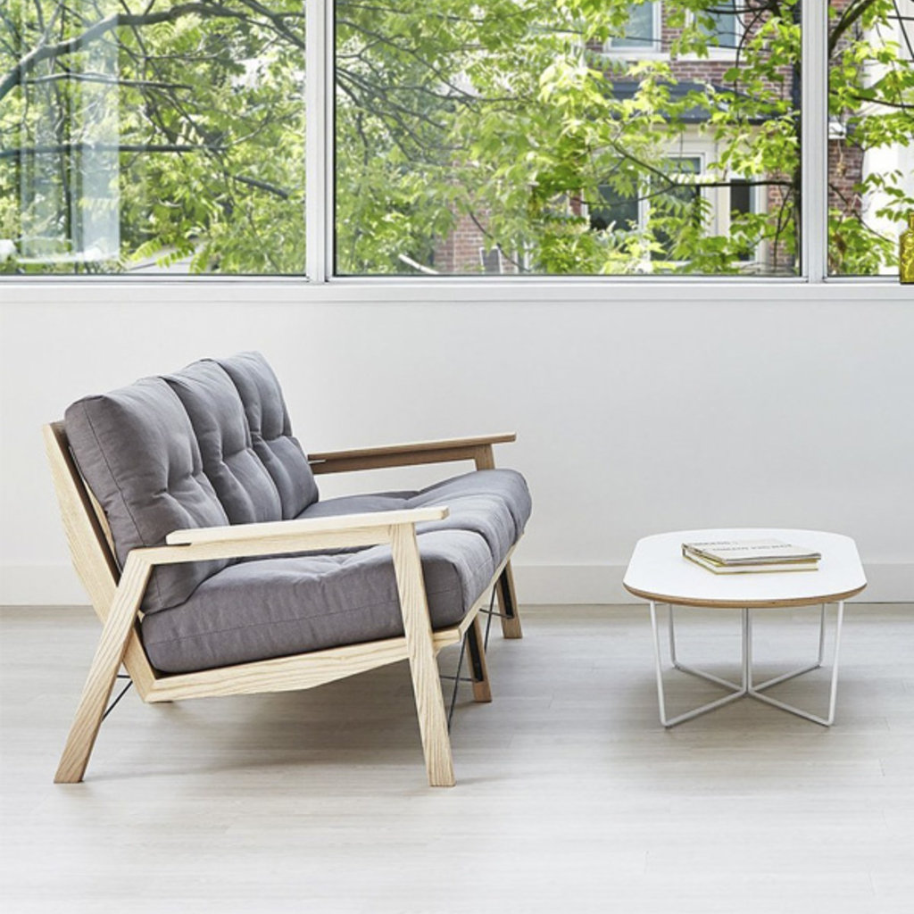 Gus Modern Array Coffee Table Oval White Powder Coat