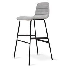 Gus Modern Lecture Upholstered Barstool Vintage Alloy