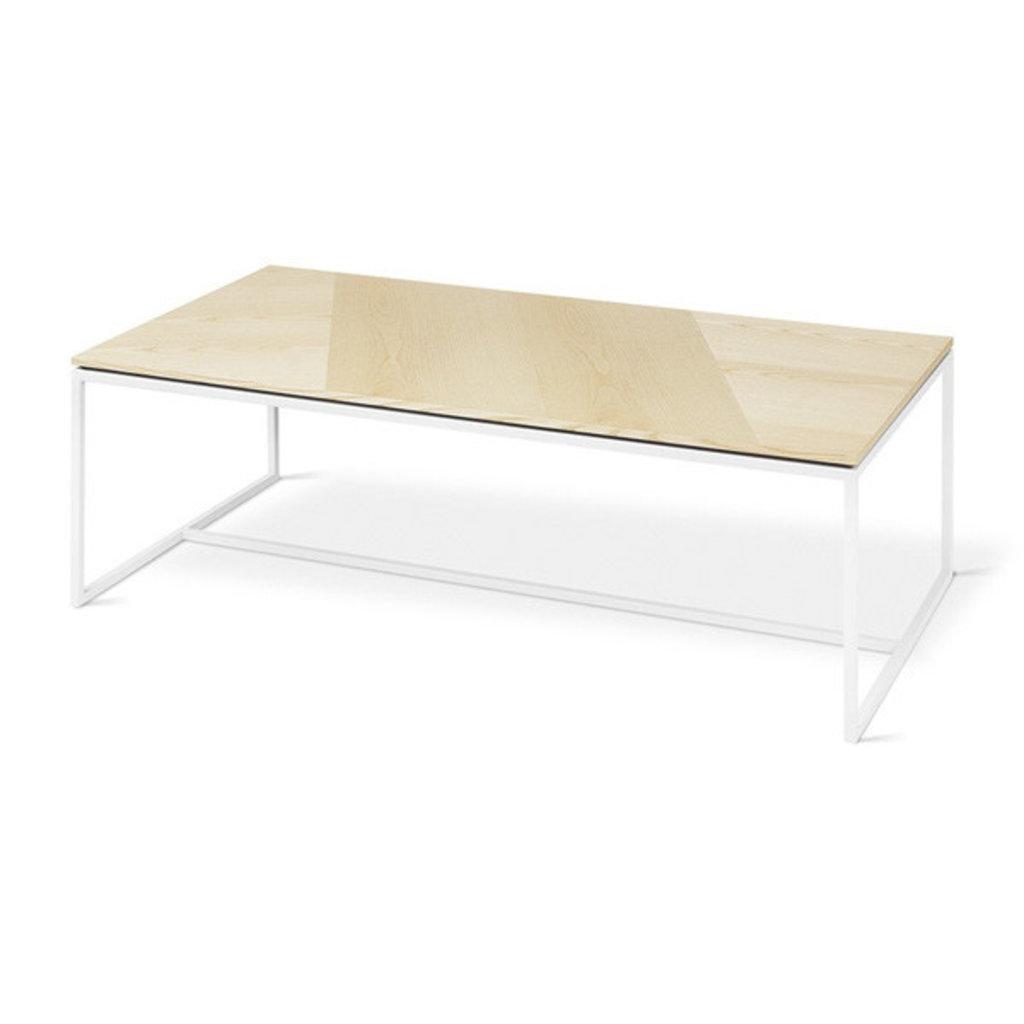 Gus Modern Tobias Coffee Table Rectangle Blonde Ash White