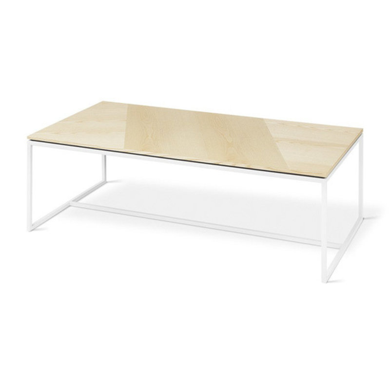 Gus Modern Tobias Coffee Table Rectangle Blonde Ash White