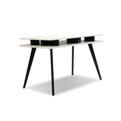 Mobital Dart Desk White with Black Solid Beech Legs