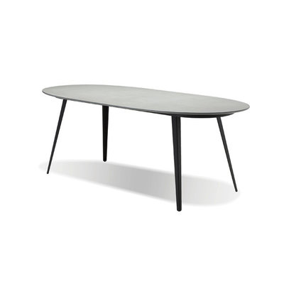 Mobital Tulum Dining Table Grey Top w/  Black Legs