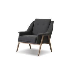Mobital Parry Lounge Chair Dark Grey Fabric