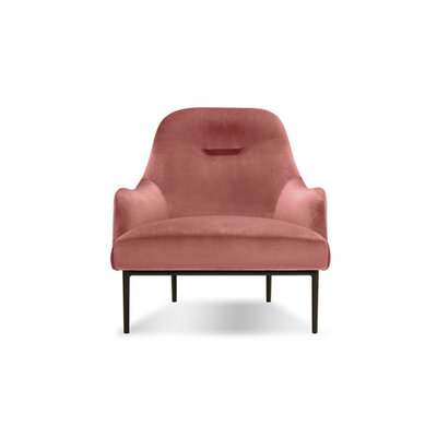 Mobital Swoon Lounge Chair Blush Velvet