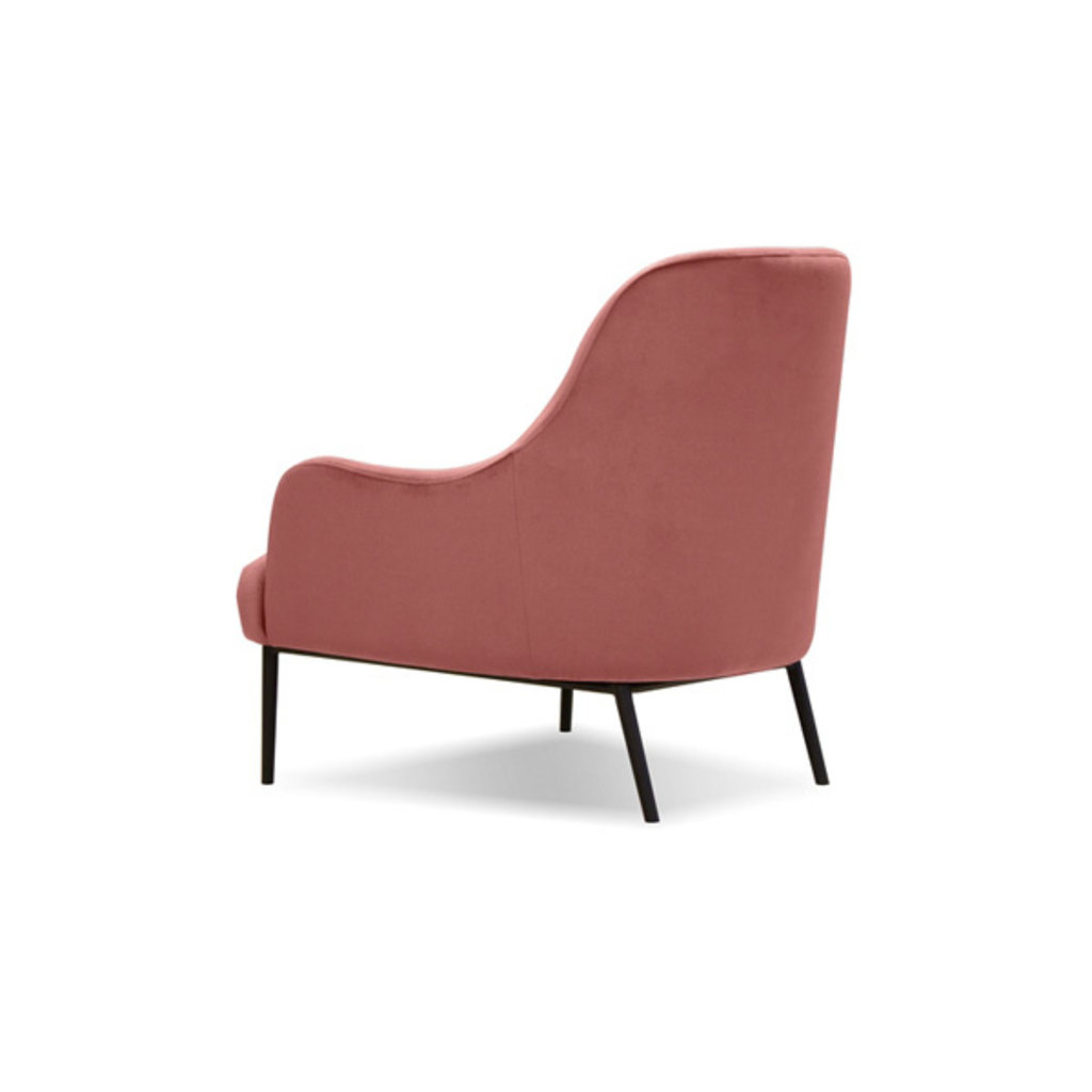 Mobital Swoon Lounge Chair Blush Velvet