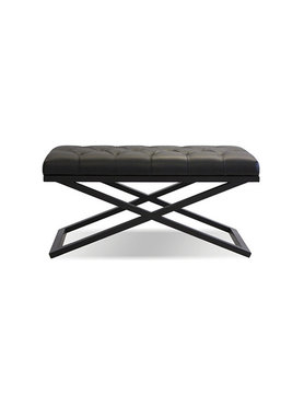 Mobital BENCH  CROSSTOWN  small black leatherette/matte black PC