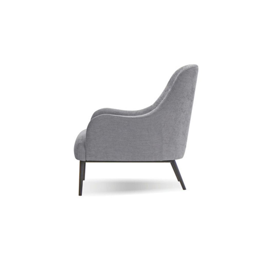 Mobital Swoon Lounge Chair Grey Fabric