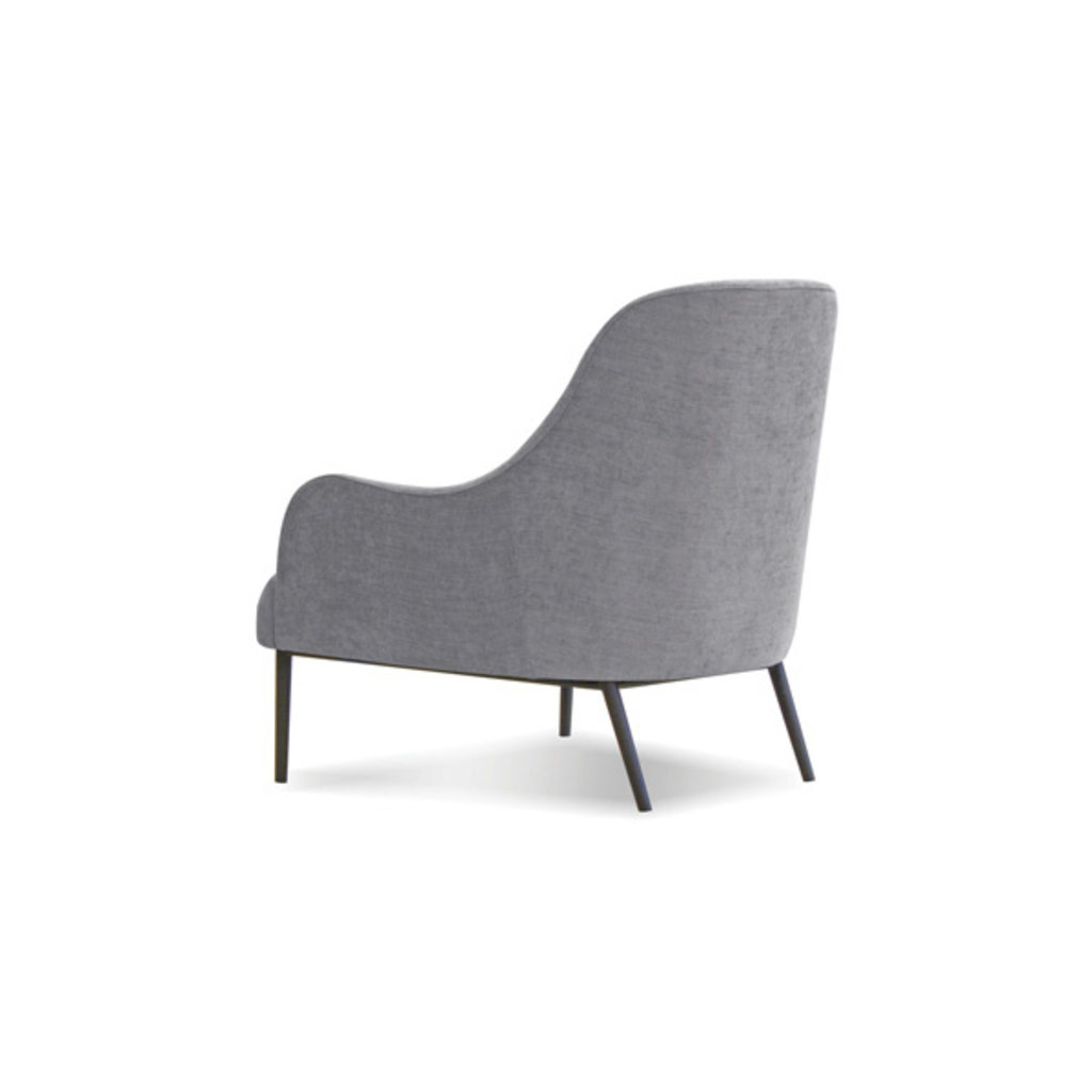 Mobital LOUNGE Chair SWOON grey fabric, black PC legs