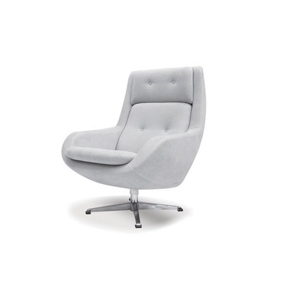 Mobital Lars Swivel Lounge Chair Light Grey Fabric