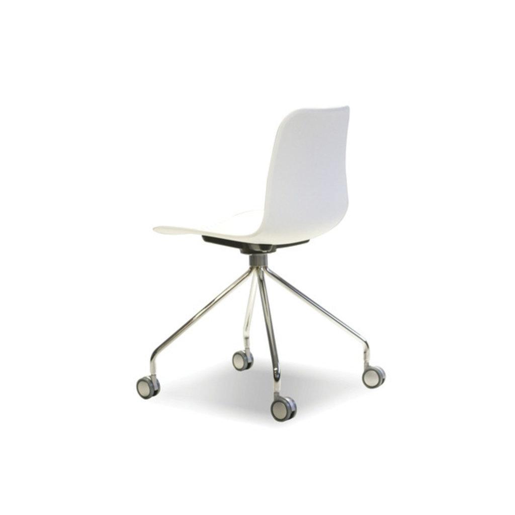 Mobital Trask Office Chair White Chrome Steel Legs On Castors