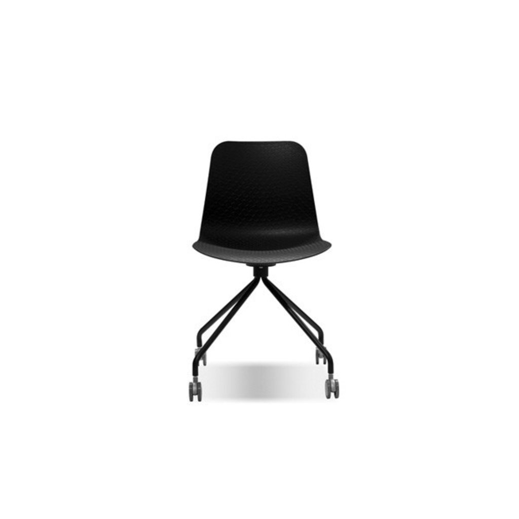 Mobital Trask Office Chair Black PC Steel Legs On Castors