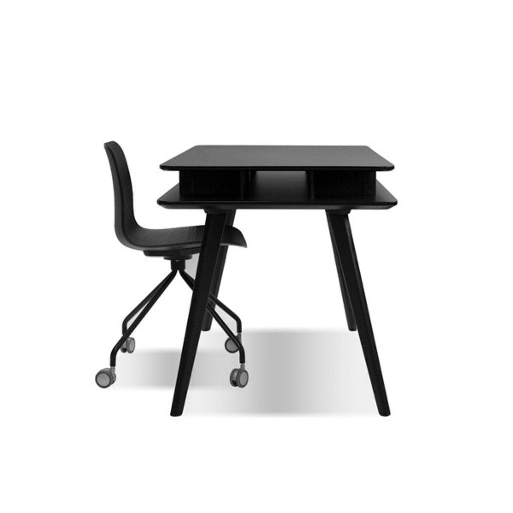 Mobital Trask Office Chair Black PC Steel Legs On Castors