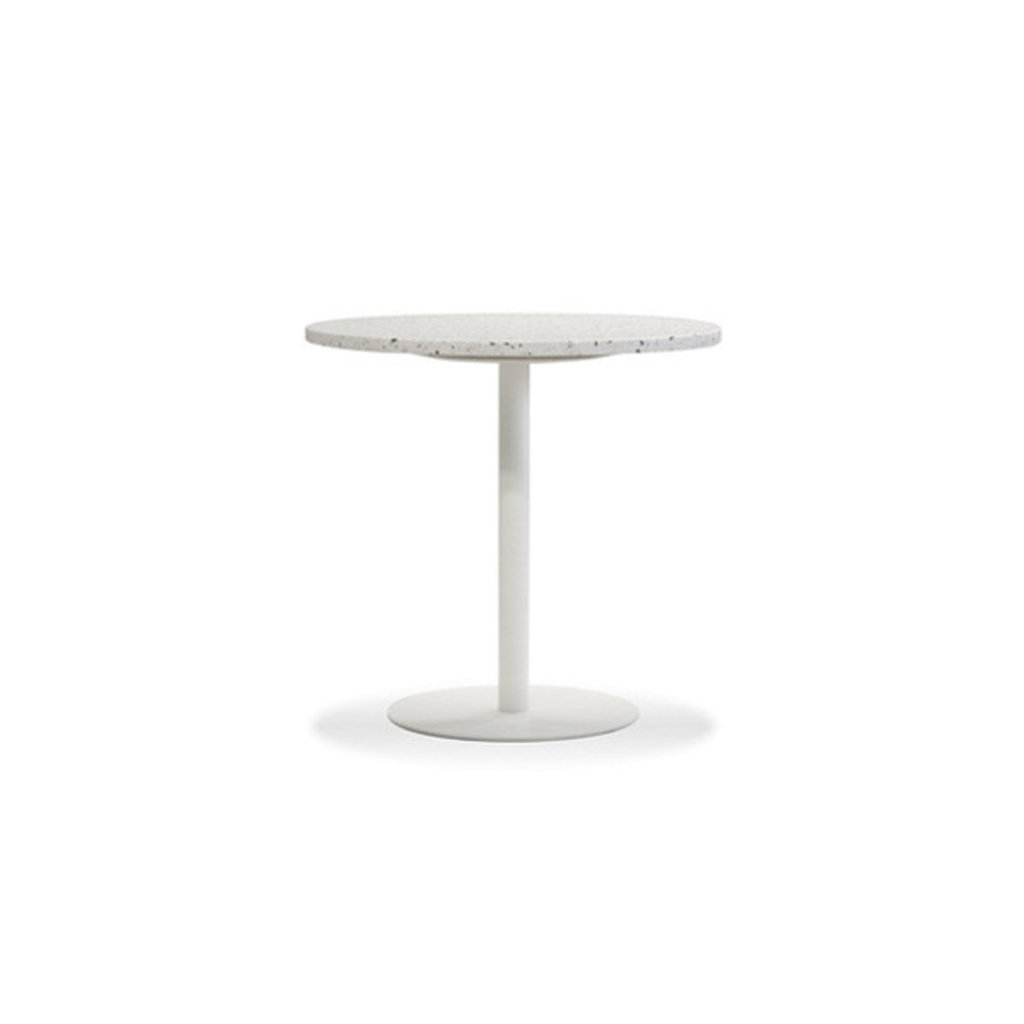 "Mobital DINING TABLE RAZOR 23.5"" white terrazzo marble/white base"