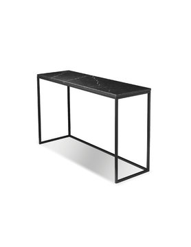 Mobital sofa Table ONIX matte black marble top/matte black base