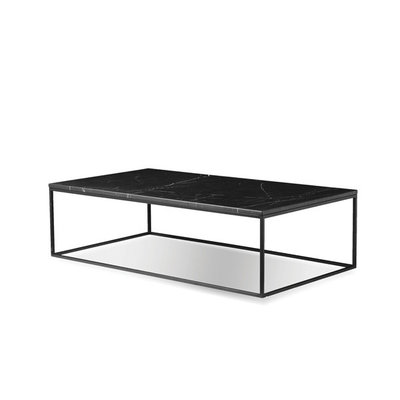 Mobital Onix Rectangular Coffee Table in Matte Black Marble