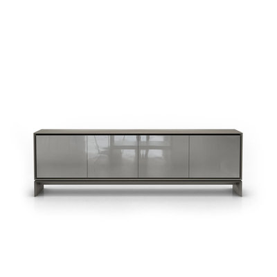 Modloft Barnes Sideboard Acier and Glossy Gray