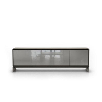 Modloft Barnes Sideboard Acier and Glossy Gray
