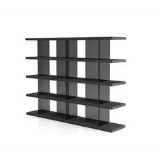 Modloft Beekman Bookcase Glossy Asphalt